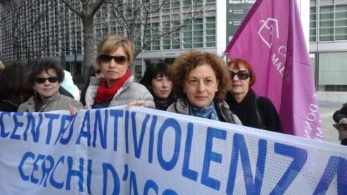 Protesta della Casa delle donne maltrattate